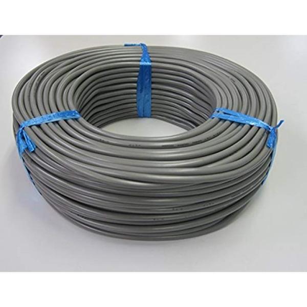 関西通信電線 VCTF ビニールキャプタイヤ丸型コード 2.0平方ミリメートル×2芯 灰2