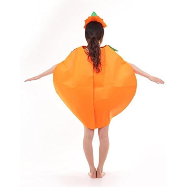まるごと かぼちゃ 衣装 パンプキン ハロウィン ファニーな 3点セット ポンチョ+帽子+ベネチアンマスク 大人用(オレンジ, フリーサイズ)|horikku|05