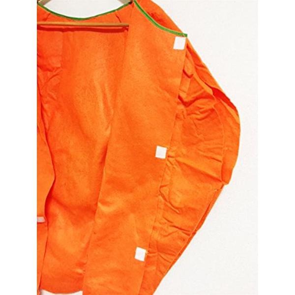 まるごと かぼちゃ 衣装 パンプキン ハロウィン ファニーな 3点セット ポンチョ+帽子+ベネチアンマスク 大人用(オレンジ, フリーサイズ)|horikku|07