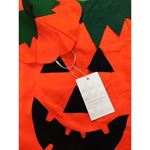 まるごと かぼちゃ 衣装 パンプキン ハロウィン ファニーな 3点セット ポンチョ+帽子+ベネチアンマスク 大人用(オレンジ, フリーサイズ)|horikku|08