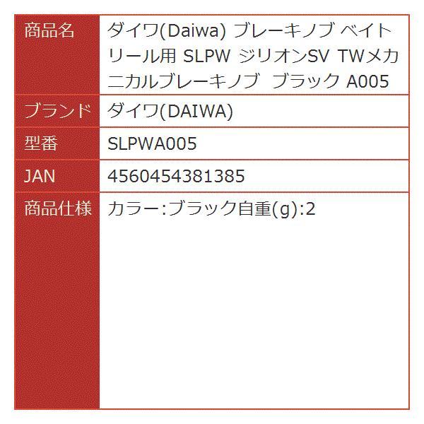 ダイワ (Daiwa) ブレーキノブ ベイトリール用 SLPW ジリオンSV TWメカニカルブレーキノブ ブラック A005 / SLPWA005