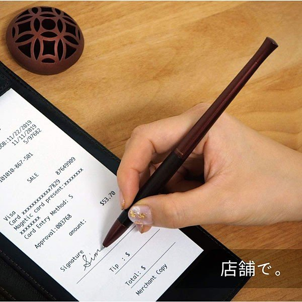ゼブラ エマルジョンボールペン フロス 輪 -Rin- カラー3色(黒・赤・金) P-BA111 おもてなし空間を彩るデスクペン ZEBRA|horiman|04
