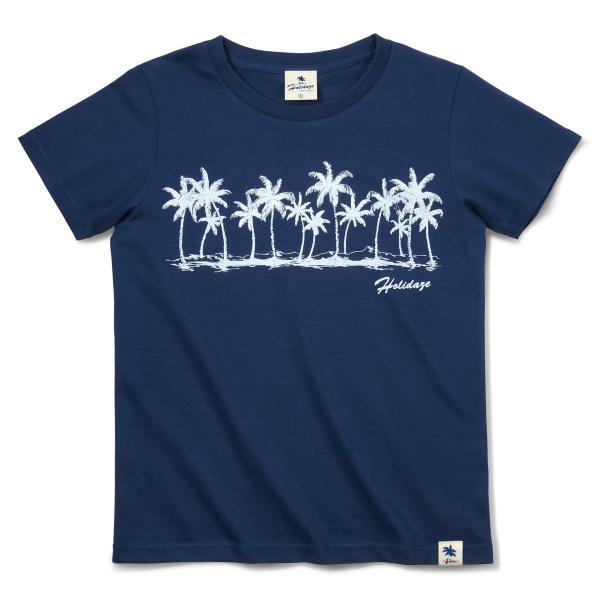 Tシャツ COCO PALM ハワイ ヤシの木 パームツリー サーフ ビーチ 半袖 レディース ホワイト インディゴ HOLIDAZE ホリデイズ|horizonblue|08