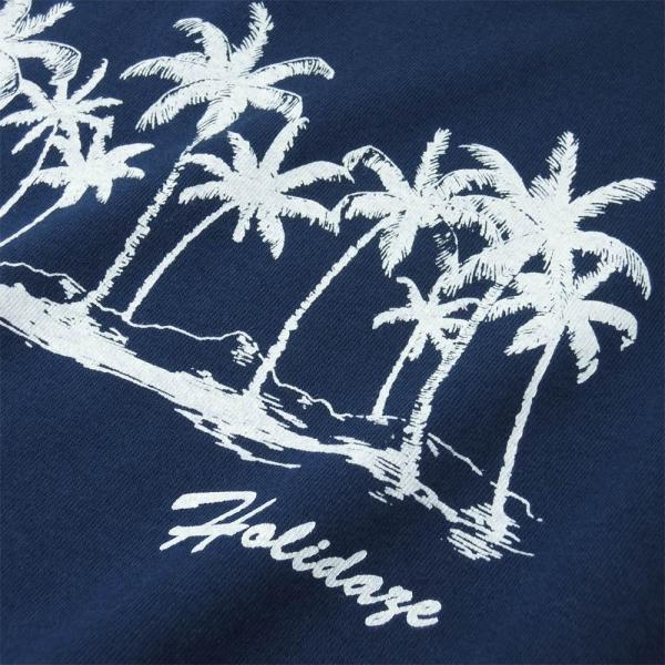 Tシャツ COCO PALM ハワイ ヤシの木 パームツリー サーフ ビーチ 半袖 レディース ホワイト インディゴ HOLIDAZE ホリデイズ|horizonblue|03