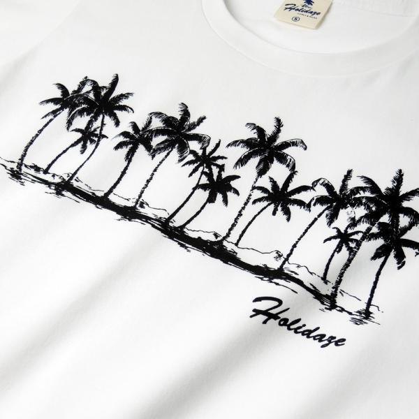 Tシャツ COCO PALM ハワイ ヤシの木 パームツリー サーフ ビーチ 半袖 レディース ホワイト インディゴ HOLIDAZE ホリデイズ|horizonblue|05
