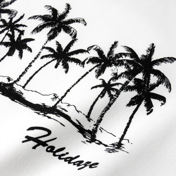 Tシャツ COCO PALM ハワイ ヤシの木 パームツリー サーフ ビーチ 半袖 レディース ホワイト インディゴ HOLIDAZE ホリデイズ|horizonblue|06