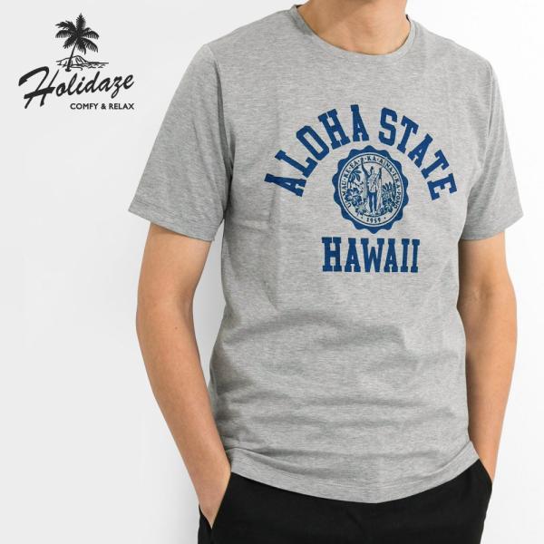 ALOHA STATE HAWAII アロハ ステート ハワイ カレッジTシャツ アメカジ サーフ ブランド メンズ 半袖 HOLIDAZE ホリデイズ horizonblue
