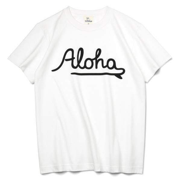 ALOHA アロハ ロゴTシャツ ハワイ ビーチ リゾート サーフ ブランド メンズ 半袖 ホワイト グレー ネイビー HOLIDAZE ホリデイズ|horizonblue|09