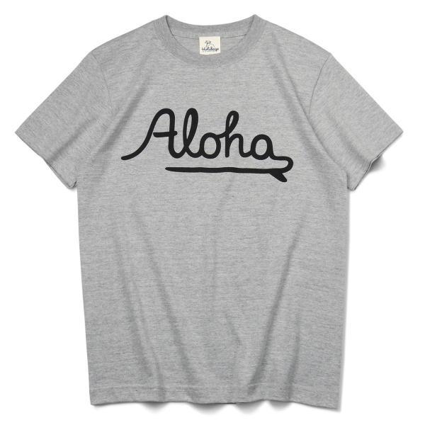 ALOHA アロハ ロゴTシャツ ハワイ ビーチ リゾート サーフ ブランド メンズ 半袖 ホワイト グレー ネイビー HOLIDAZE ホリデイズ|horizonblue|02