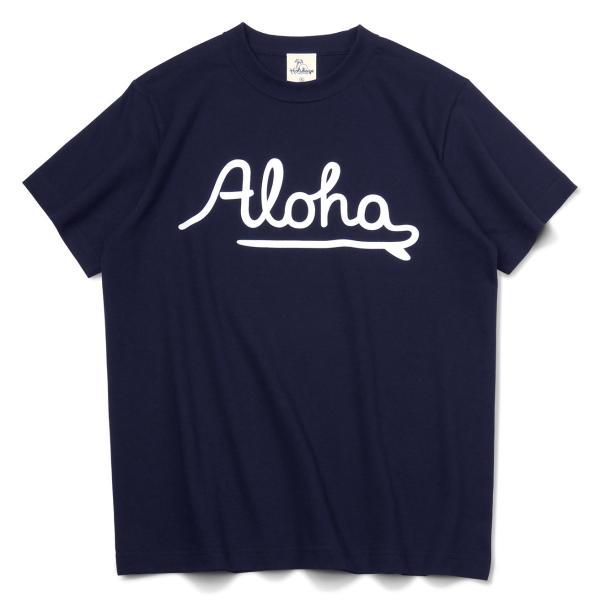 ALOHA アロハ ロゴTシャツ ハワイ ビーチ リゾート サーフ ブランド メンズ 半袖 ホワイト グレー ネイビー HOLIDAZE ホリデイズ|horizonblue|03