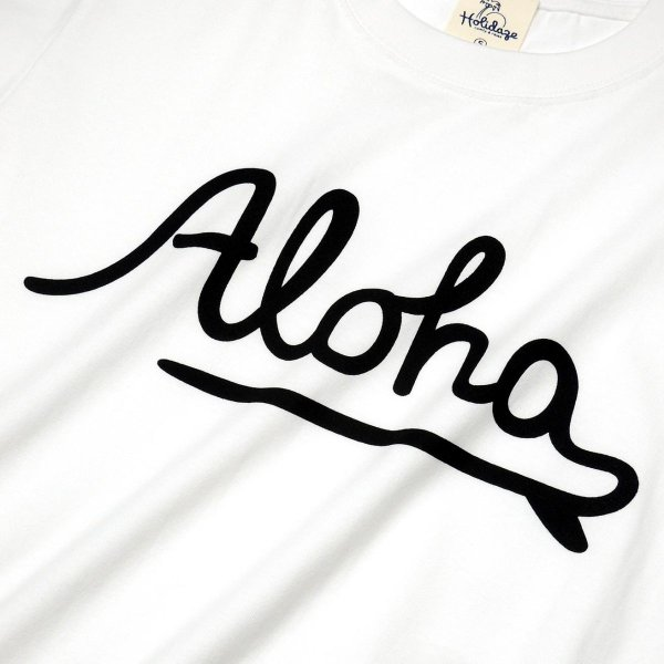 ALOHA アロハ ロゴTシャツ ハワイ ビーチ リゾート サーフ ブランド メンズ 半袖 ホワイト グレー ネイビー HOLIDAZE ホリデイズ|horizonblue|10