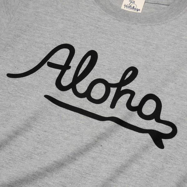 ALOHA アロハ ロゴTシャツ ハワイ ビーチ リゾート サーフ ブランド メンズ 半袖 ホワイト グレー ネイビー HOLIDAZE ホリデイズ|horizonblue|04