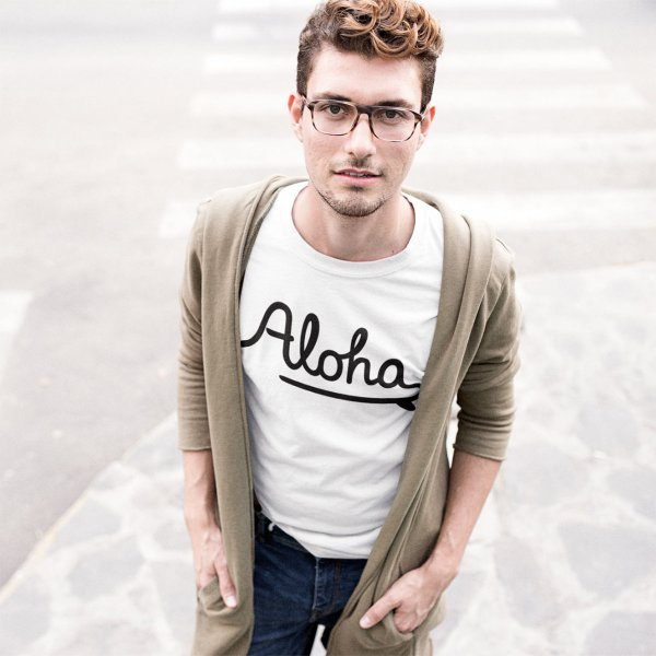 ALOHA アロハ ロゴTシャツ ハワイ ビーチ リゾート サーフ ブランド メンズ 半袖 ホワイト グレー ネイビー HOLIDAZE ホリデイズ|horizonblue|11