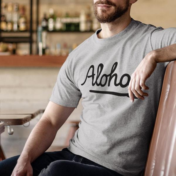 ALOHA アロハ ロゴTシャツ ハワイ ビーチ リゾート サーフ ブランド メンズ 半袖 ホワイト グレー ネイビー HOLIDAZE ホリデイズ|horizonblue|06