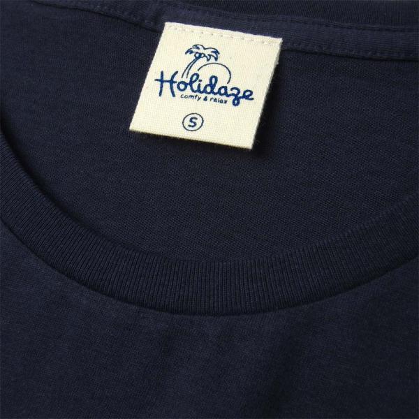 Tシャツ ALOHA アロハ フラガール ハワイ リゾート リラックス サーフ メンズ 半袖 ホワイト ネイビー HOLIDAZE ホリデイズ|horizonblue|04
