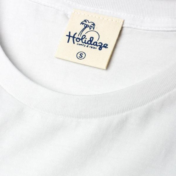 Tシャツ ALOHA アロハ フラガール ハワイ リゾート リラックス サーフ メンズ 半袖 ホワイト ネイビー HOLIDAZE ホリデイズ|horizonblue|08