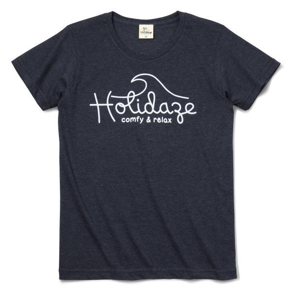 Tシャツ WAVE LOGO ウェーブ 波 サーフ ブランド ビーチ アロハ ハワイ メンズ 半袖 ホワイト ネイビー HOLIDAZE ホリデイズ|horizonblue|09