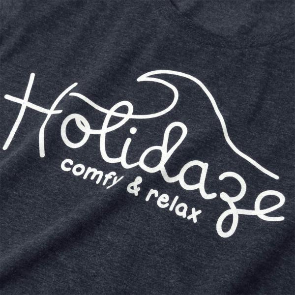 Tシャツ WAVE LOGO ウェーブ 波 サーフ ブランド ビーチ アロハ ハワイ メンズ 半袖 ホワイト ネイビー HOLIDAZE ホリデイズ|horizonblue|02