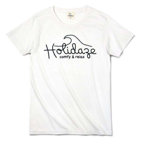 Tシャツ WAVE LOGO ウェーブ 波 サーフ ブランド ビーチ アロハ ハワイ メンズ 半袖 ホワイト ネイビー HOLIDAZE ホリデイズ|horizonblue|10