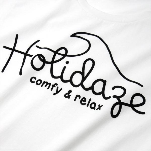 Tシャツ WAVE LOGO ウェーブ 波 サーフ ブランド ビーチ アロハ ハワイ メンズ 半袖 ホワイト ネイビー HOLIDAZE ホリデイズ|horizonblue|05