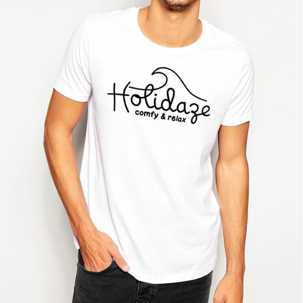 Tシャツ WAVE LOGO ウェーブ 波 サーフ ブランド ビーチ アロハ ハワイ メンズ 半袖 ホワイト ネイビー HOLIDAZE ホリデイズ|horizonblue|08