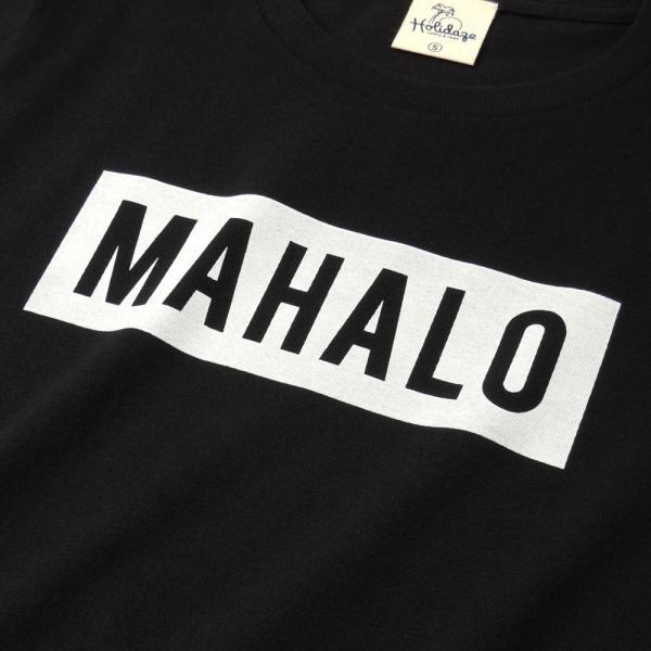 MAHALO ボックスロゴ Tシャツ ハワイ マハロ サーフ ストリート ブランド 半袖 ユニセックス メンズ レディース HOLIDAZE ホリデイズ|horizonblue|05