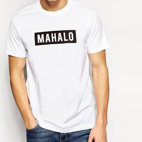 MAHALO ボックスロゴ Tシャツ ハワイ マハロ サーフ ストリート ブランド 半袖 ユニセックス メンズ レディース HOLIDAZE ホリデイズ|horizonblue|06