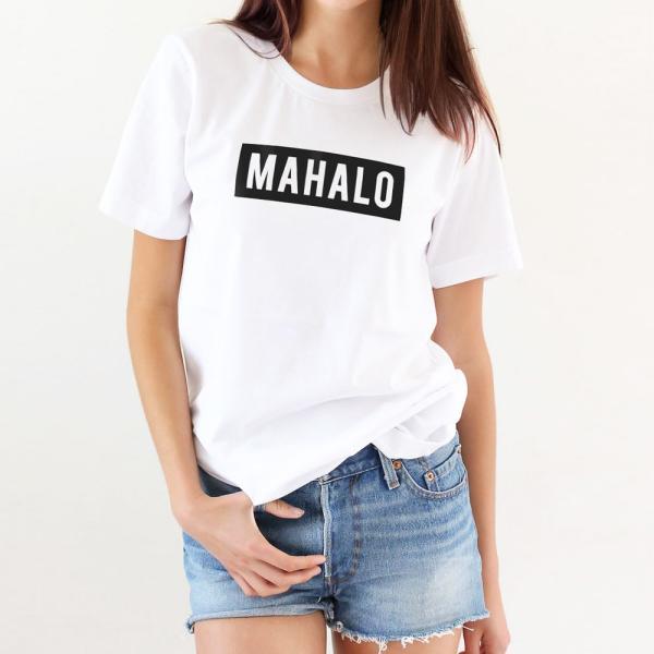 MAHALO ボックスロゴ Tシャツ ハワイ マハロ サーフ ストリート ブランド 半袖 ユニセックス メンズ レディース HOLIDAZE ホリデイズ|horizonblue|07