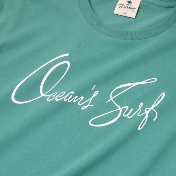 Tシャツ OCEAN'S SURF オーシャン サーフ 半袖 ユニセックス メンズ レディース ホワイト オーシャン チャコール HOLIDAZE ホリデイズ|horizonblue|03