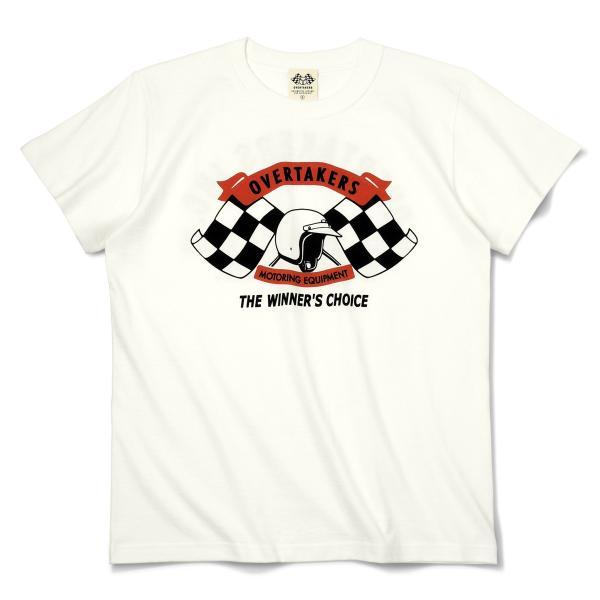 Tシャツ モーター系 半袖 メンズ 自動車 レーシング スポーツ アメカジ ホワイト THE 500 - OVERTAKERS(オーバーテイカーズ)|horizonblue|02