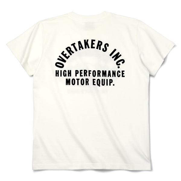 Tシャツ モーター系 半袖 メンズ 自動車 レーシング スポーツ アメカジ ホワイト THE 500 - OVERTAKERS(オーバーテイカーズ)|horizonblue|03