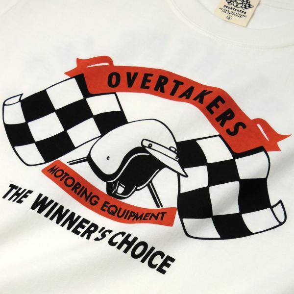 Tシャツ モーター系 半袖 メンズ 自動車 レーシング スポーツ アメカジ ホワイト THE 500 - OVERTAKERS(オーバーテイカーズ)|horizonblue|04