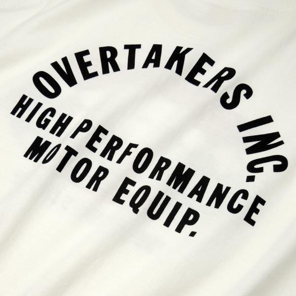 Tシャツ モーター系 半袖 メンズ 自動車 レーシング スポーツ アメカジ ホワイト THE 500 - OVERTAKERS(オーバーテイカーズ)|horizonblue|05