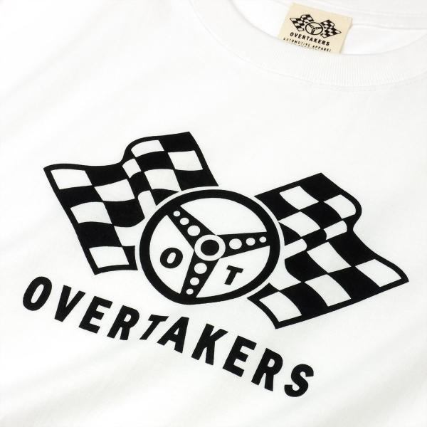 Tシャツ モーター系 レーシング 自動車 バイカー CHECKERED LOGO チェッカーフラッグ ロゴTシャツ - OVERTAKERS(オーバーテイカーズ )|horizonblue|03