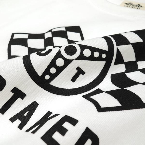Tシャツ モーター系 レーシング 自動車 バイカー CHECKERED LOGO チェッカーフラッグ ロゴTシャツ - OVERTAKERS(オーバーテイカーズ )|horizonblue|04