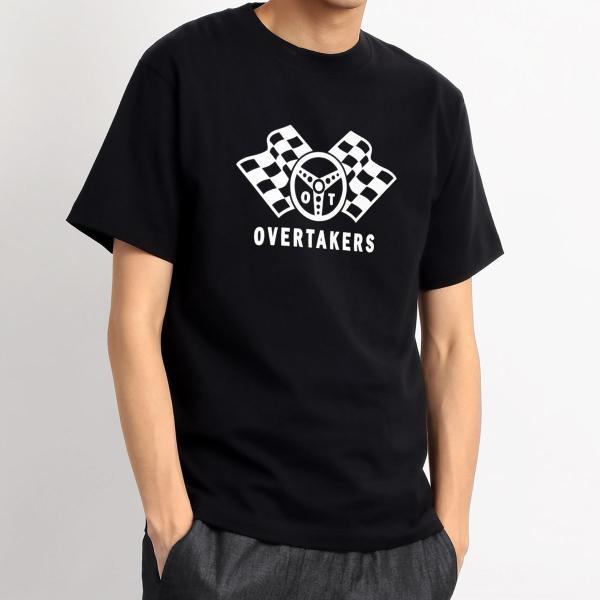 Tシャツ モーター系 レーシング 自動車 バイカー CHECKERED LOGO チェッカーフラッグ ロゴTシャツ - OVERTAKERS(オーバーテイカーズ )|horizonblue|08