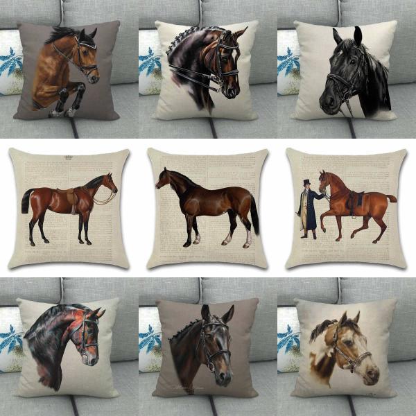 45x45 クッションカバー WESTERN スタイル  馬柄|horsestyle