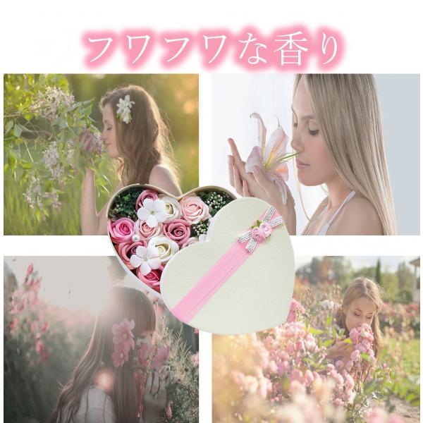 フラワーソープ フラワーギフト バラ 薔薇 プレゼント 花 ハート|hoshinosyounin|03