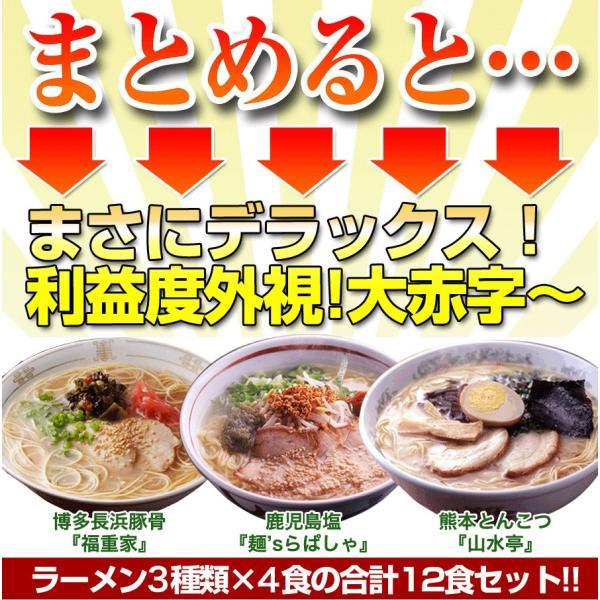 ラーメン福袋 とんこつラーメン 九州らーめんデラックスセット 4種×3食の計12食 有名店ラーメン hot-emu 02