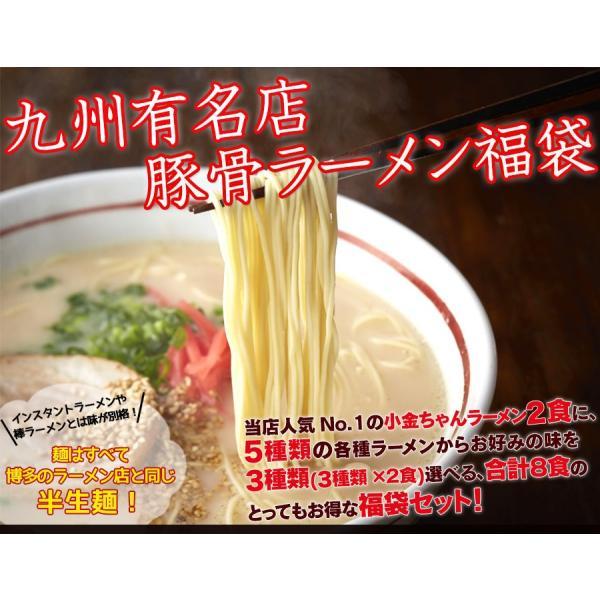 選べる九州有名店 豪華とんこつラーメン福袋8食セット ご当地ラーメン hot-emu 02