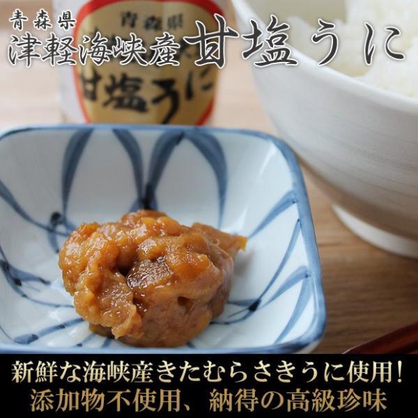 青森県産 塩うに60g入 無添加・ノンアルコールで仕上げ 解凍後はお早めにお召し上がりください|hotateyasan
