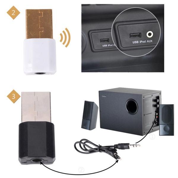 Bluetooth受信機 レシーバー オーディオ usb式 3.5mmプラグ対応 ブルートゥース受信機 USB外部電源 Bluetooth4.0対応 hotbeststore 09