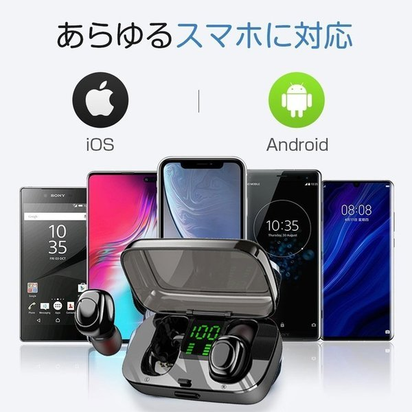 ワイヤレスイヤホン Bluetooth5.0 ブルートゥースイヤホン HiFi 高音質 ノイズキャンセリング 片/両耳対応 左右分離型 iphone Android|hotbeststore|19