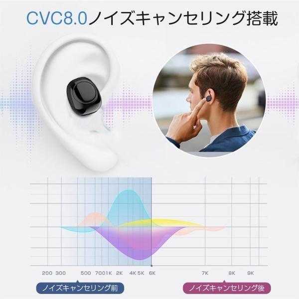 ワイヤレスイヤホン Bluetooth5.0 ブルートゥースイヤホン HiFi 高音質 ノイズキャンセリング 片/両耳対応 左右分離型 iphone Android|hotbeststore|04