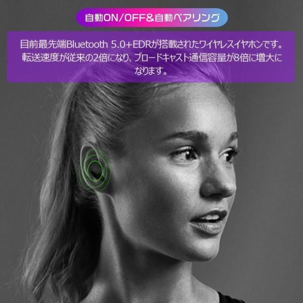 ワイヤレスイヤホン Bluetooth5.0 ブルートゥースイヤホン HiFi 高音質 ノイズキャンセリング 片/両耳対応 左右分離型 iphone Android|hotbeststore|08
