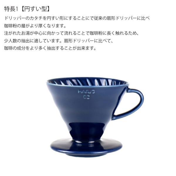 ILCANA セラミックドリッパー02 <紺青/イルカナネイビー> コーヒー coffee ドリッパー 磁器 有田焼 MADE IN JAPAN 日本製|hotcrafts|03