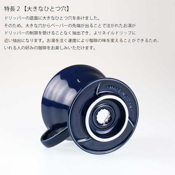 ILCANA セラミックドリッパー02 <紺青/イルカナネイビー> コーヒー coffee ドリッパー 磁器 有田焼 MADE IN JAPAN 日本製|hotcrafts|04