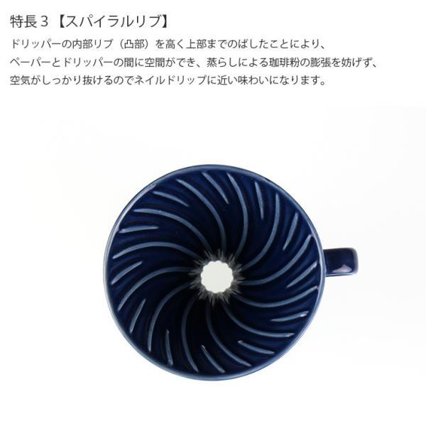 ILCANA セラミックドリッパー02 <紺青/イルカナネイビー> コーヒー coffee ドリッパー 磁器 有田焼 MADE IN JAPAN 日本製|hotcrafts|05