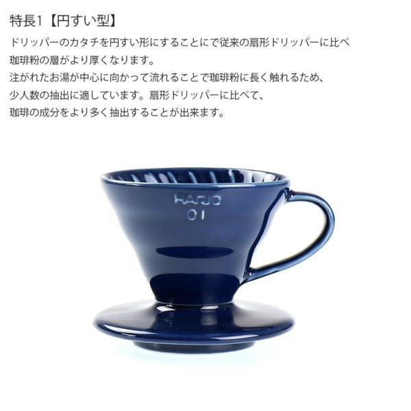 ILCANA セラミックドリッパー01 <紺青/イルカナネイビー> コーヒー coffee ドリッパー 磁器 有田焼 MADE IN JAPAN 日本製 hotcrafts 03