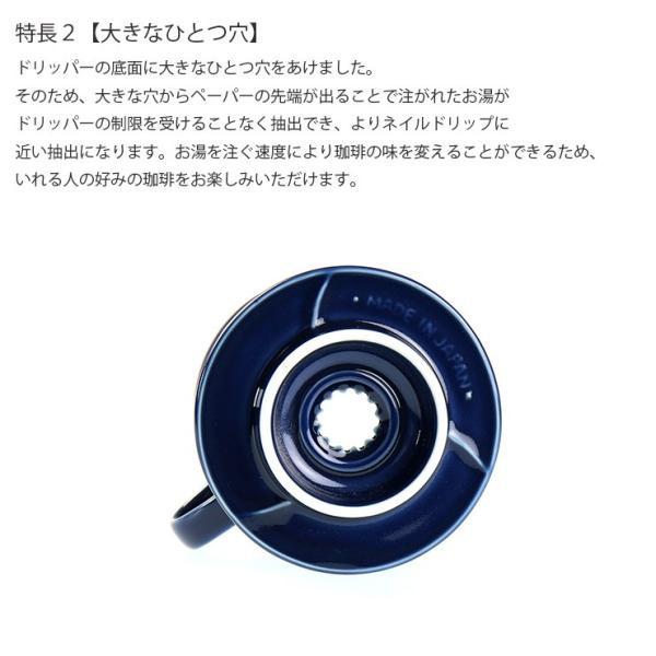 ILCANA セラミックドリッパー01 <紺青/イルカナネイビー> コーヒー coffee ドリッパー 磁器 有田焼 MADE IN JAPAN 日本製 hotcrafts 04
